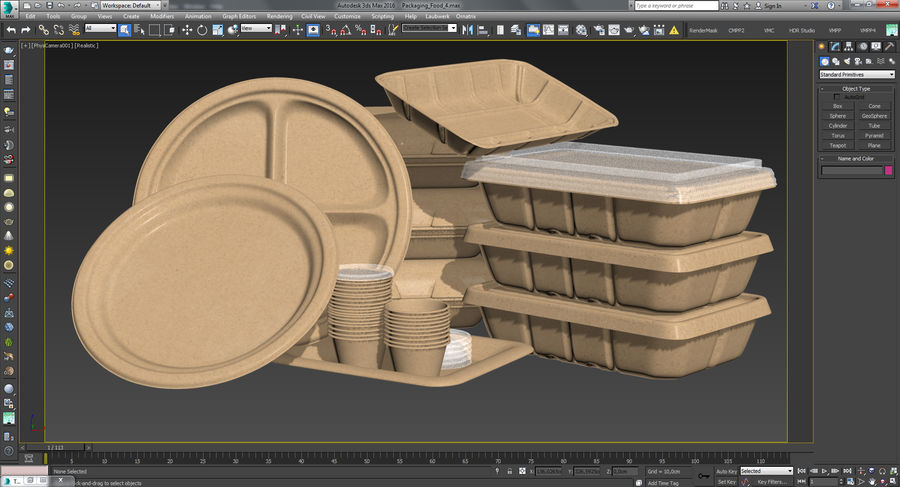Envasado de alimentos 4 royalty-free modelo 3d - Preview no. 44
