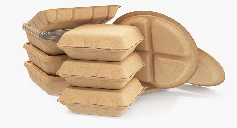 Imballaggio degli alimenti 4 royalty-free 3d model - Preview no. 4
