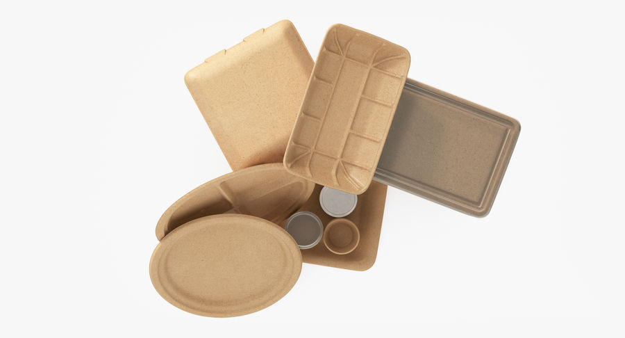 Imballaggio degli alimenti 4 royalty-free 3d model - Preview no. 18