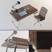 Contemporary Artist Desk & Chair 3d model