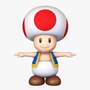 Toad Muchomor Mushroom Super Mario Assets 3d model