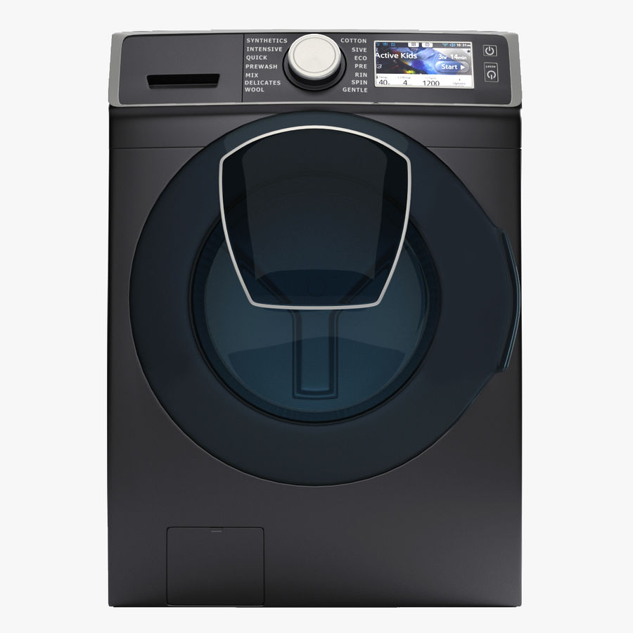 Samsung washing machine WF7500 addWash royalty-free 3d model - Preview no. 1
