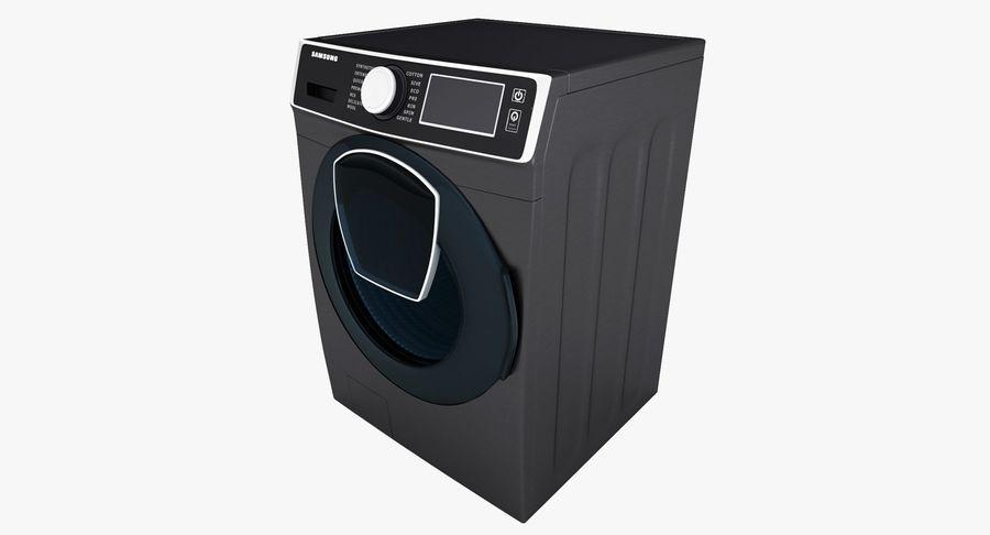Samsung washing machine WF7500 addWash royalty-free 3d model - Preview no. 5