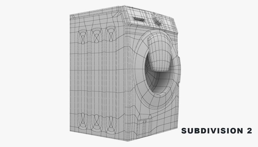 Samsung washing machine WF7500 addWash royalty-free 3d model - Preview no. 11