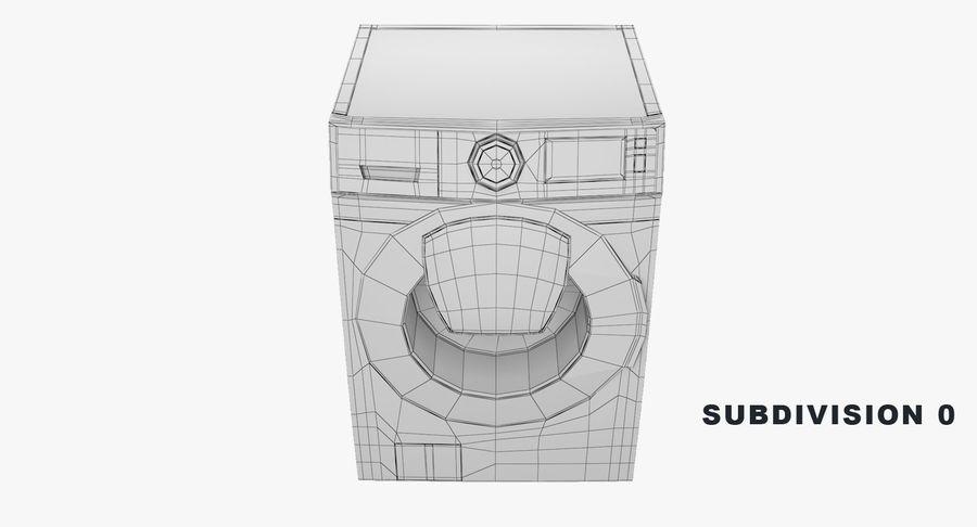 Samsung washing machine WF7500 addWash royalty-free 3d model - Preview no. 8