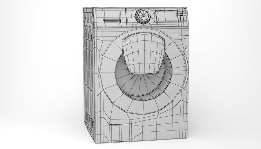 Samsung washing machine WF7500 addWash royalty-free 3d model - Preview no. 13