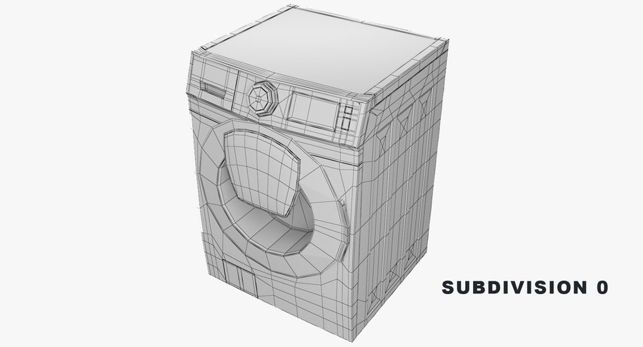 Samsung washing machine WF7500 addWash royalty-free 3d model - Preview no. 7