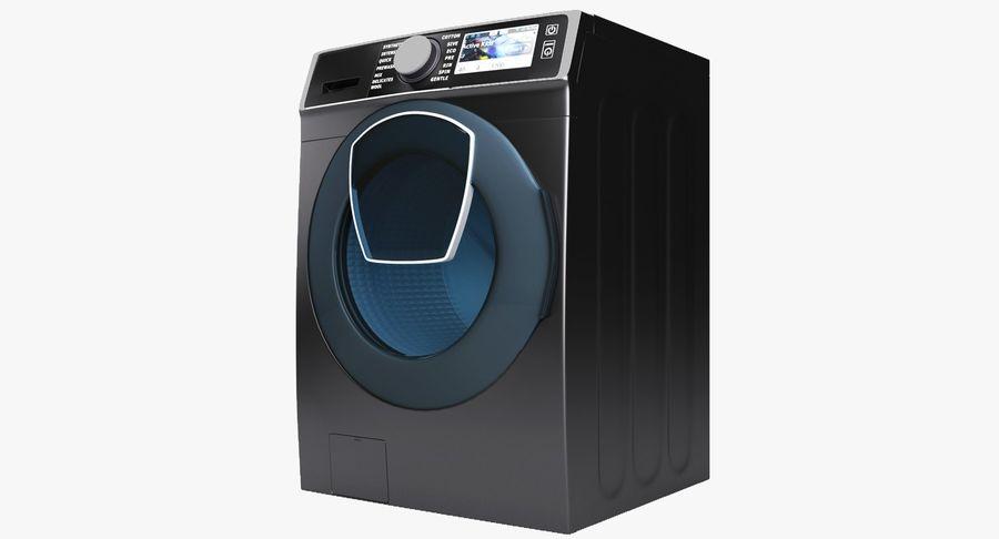 Samsung washing machine WF7500 addWash royalty-free 3d model - Preview no. 2