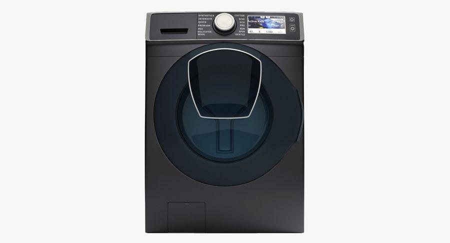 Samsung washing machine WF7500 addWash royalty-free 3d model - Preview no. 3