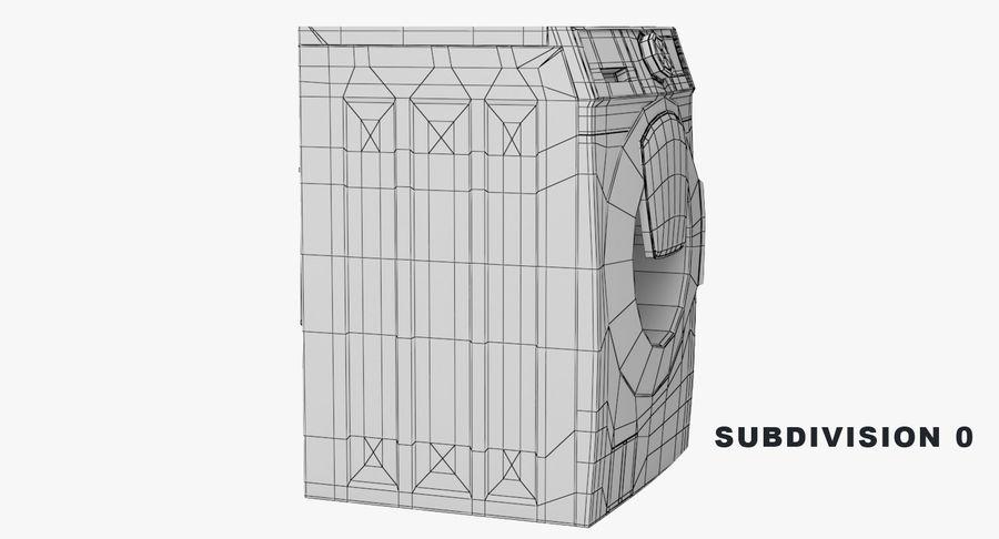 Samsung washing machine WF7500 addWash royalty-free 3d model - Preview no. 10