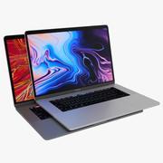 2019 MacBook Pro 15 pouces avec barre tactile, toutes les couleurs 3d model