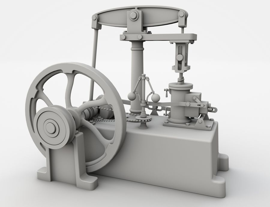 Beam Engine royalty-free 3d model - Preview no. 7