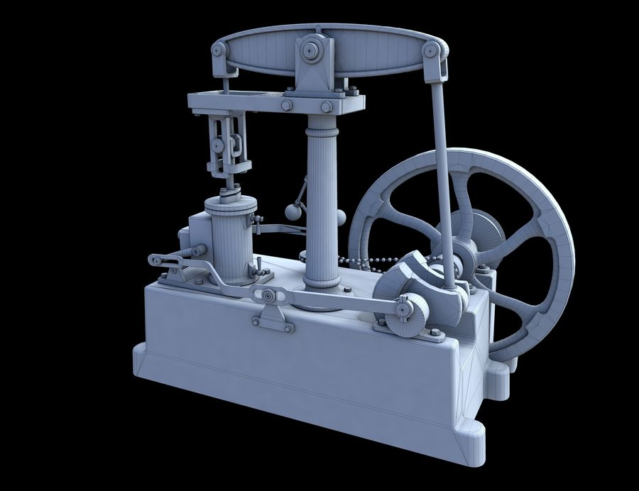 Beam Engine royalty-free 3d model - Preview no. 11