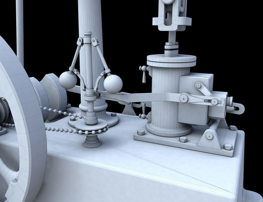 Beam Engine royalty-free 3d model - Preview no. 12