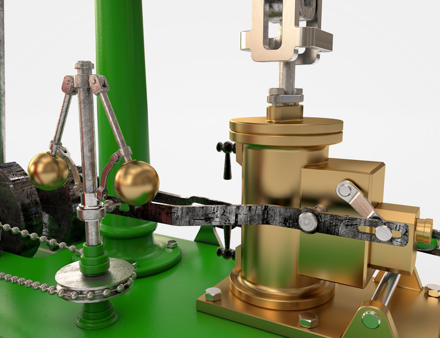 Beam Engine royalty-free 3d model - Preview no. 5