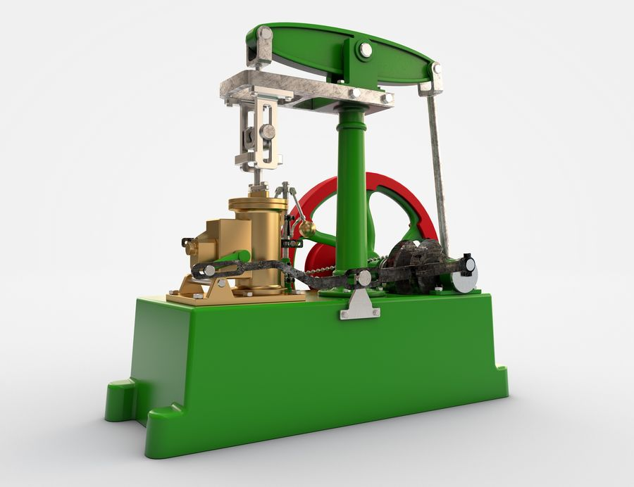 Beam Engine royalty-free 3d model - Preview no. 2