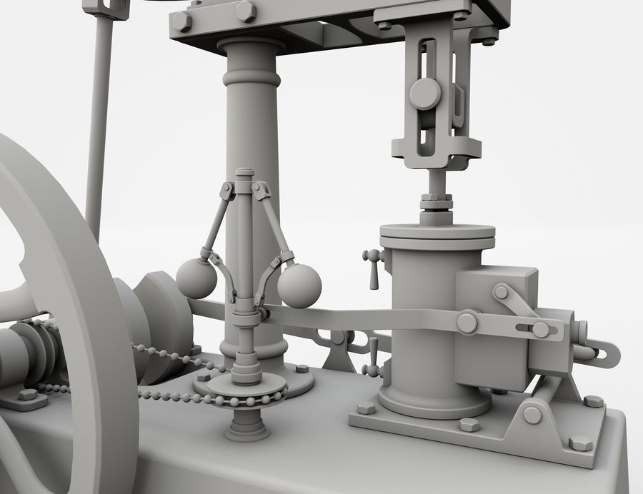 Beam Engine royalty-free 3d model - Preview no. 9