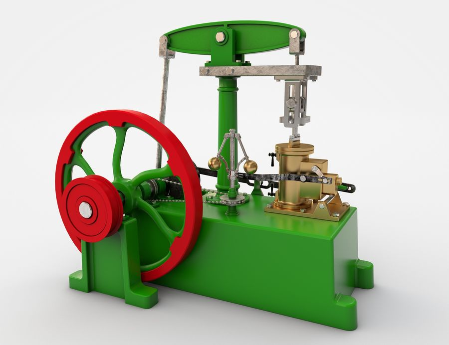Beam Engine royalty-free 3d model - Preview no. 1