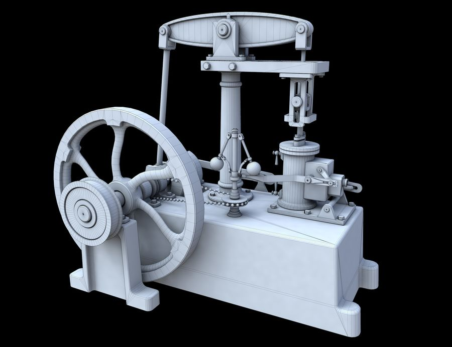 Beam Engine royalty-free 3d model - Preview no. 10