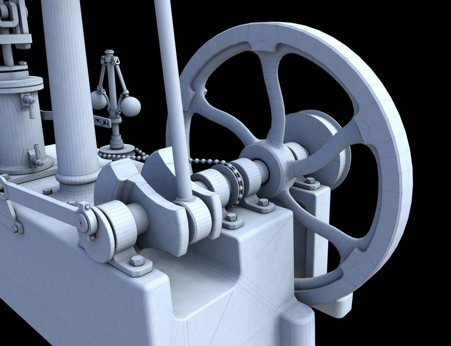 Beam Engine royalty-free 3d model - Preview no. 13
