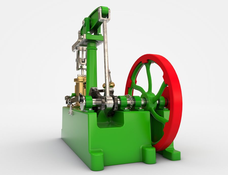 Beam Engine royalty-free 3d model - Preview no. 6