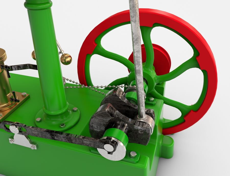 Beam Engine royalty-free 3d model - Preview no. 4