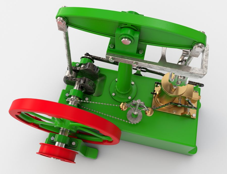 Beam Engine royalty-free 3d model - Preview no. 3