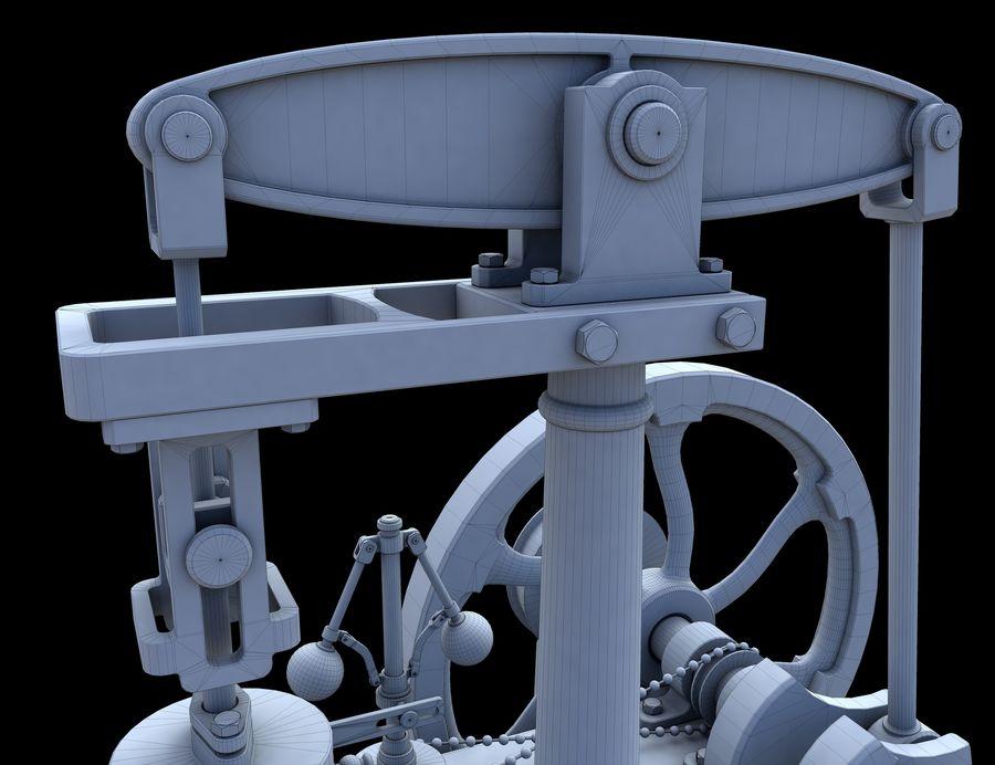 Beam Engine royalty-free 3d model - Preview no. 14