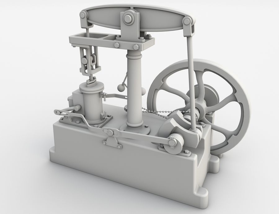 Beam Engine royalty-free 3d model - Preview no. 8