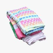 Montón de toallas 03 modelo 3d