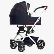 Cochecito de bebe mercedes modelo 3d