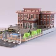 Bibliothek 01 3d model
