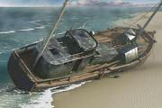 Sahilde batık 3d model