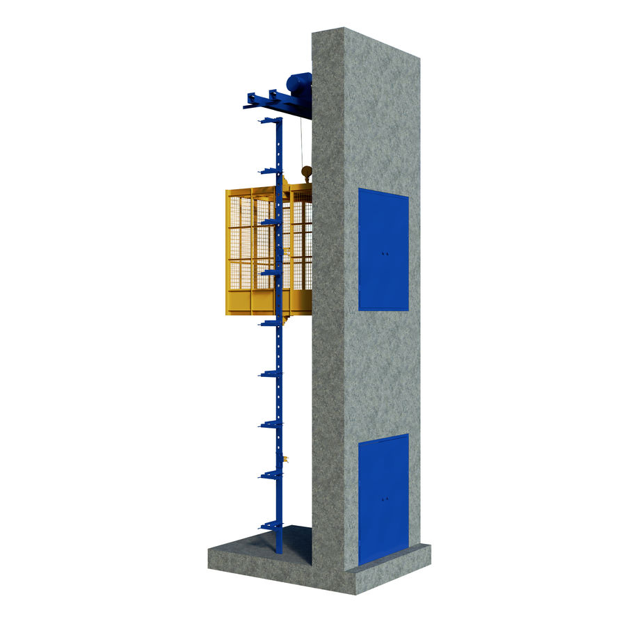 industrial elevator royalty-free 3d model - Preview no. 3
