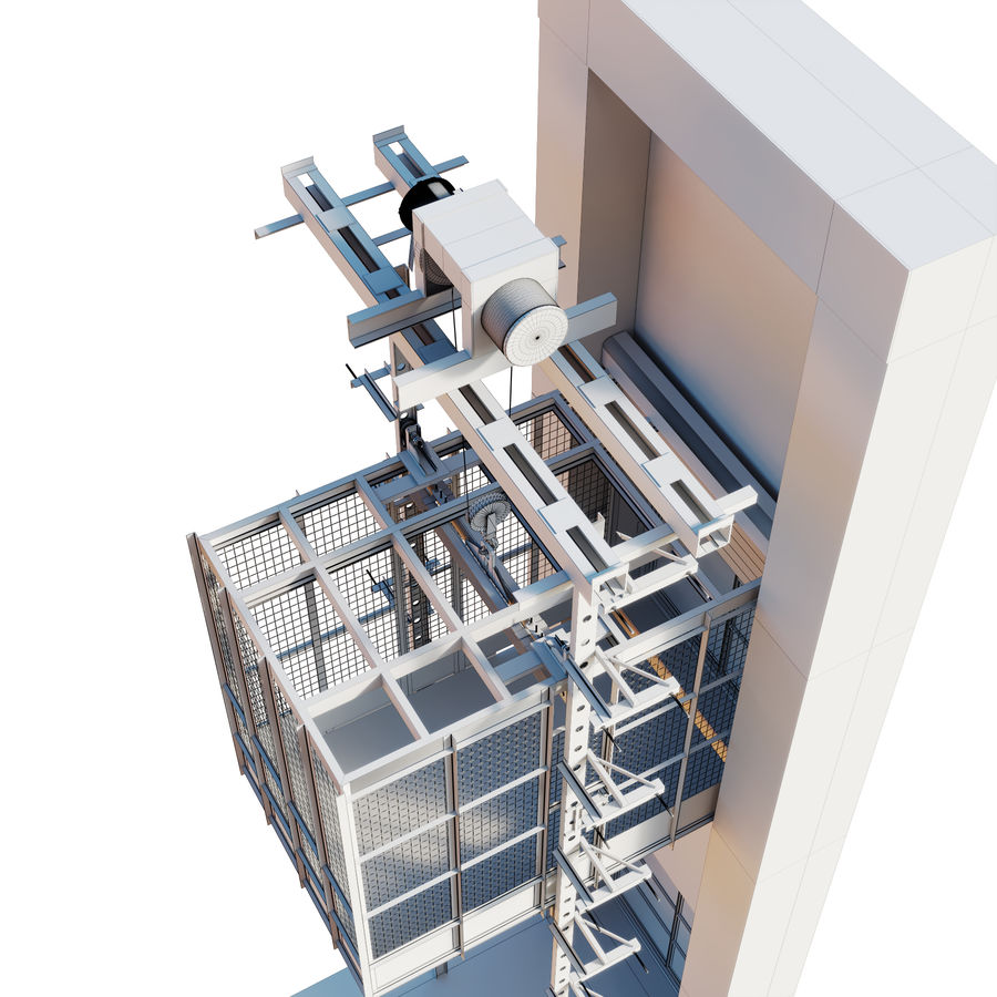 industrial elevator royalty-free 3d model - Preview no. 5