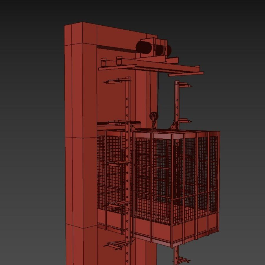 industrial elevator royalty-free 3d model - Preview no. 10