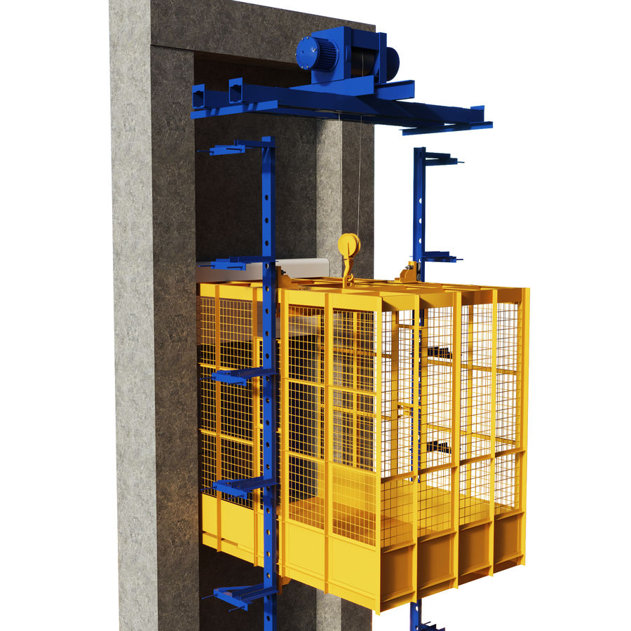 industrial elevator royalty-free 3d model - Preview no. 1