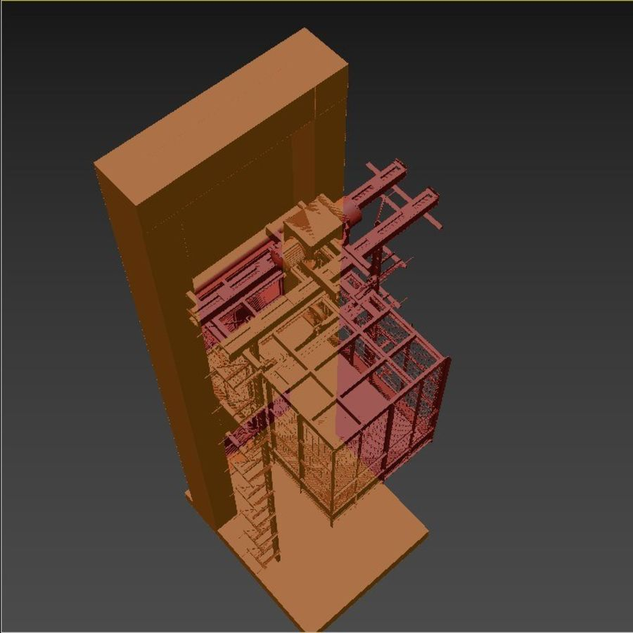 industrial elevator royalty-free 3d model - Preview no. 11