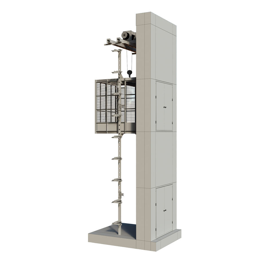 industrial elevator royalty-free 3d model - Preview no. 9