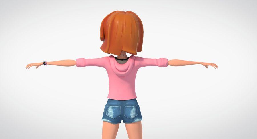 Çizgi film genç kız royalty-free 3d model - Preview no. 3