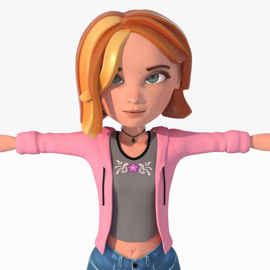 Çizgi film genç kız royalty-free 3d model - Preview no. 1