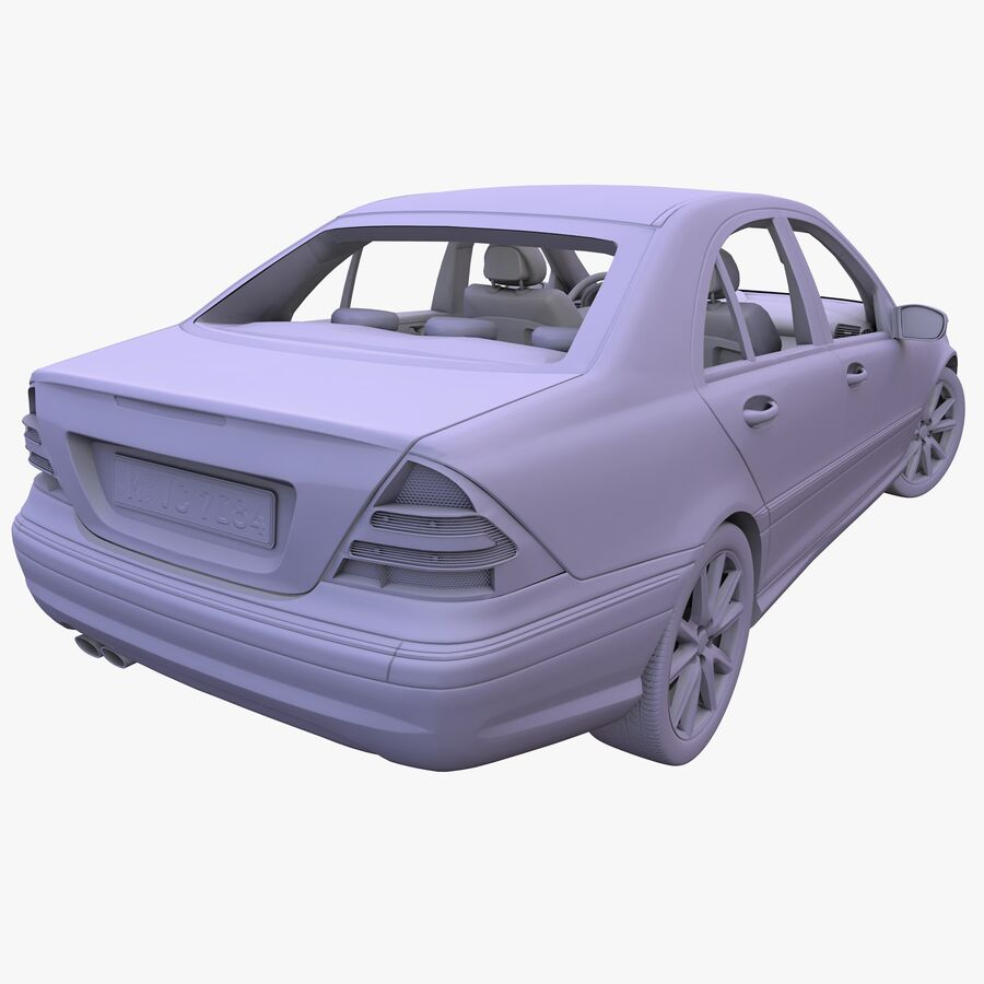 Generic German Sedan royalty-free 3d model - Preview no. 8
