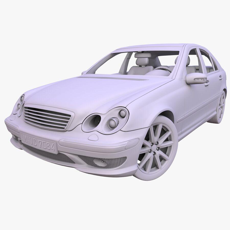 Generic German Sedan royalty-free 3d model - Preview no. 7