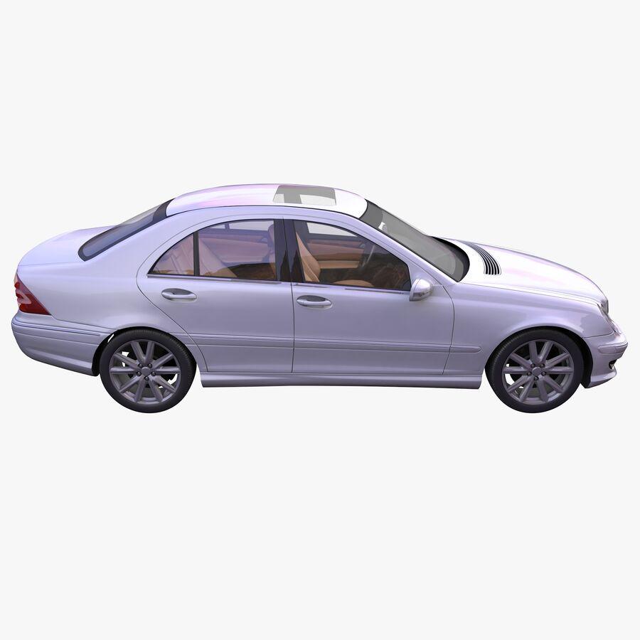 Generic German Sedan royalty-free 3d model - Preview no. 5