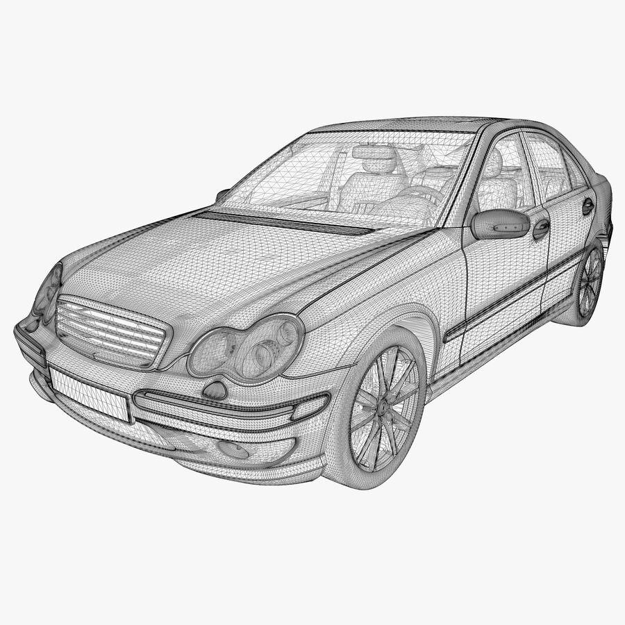 Generic German Sedan royalty-free 3d model - Preview no. 9