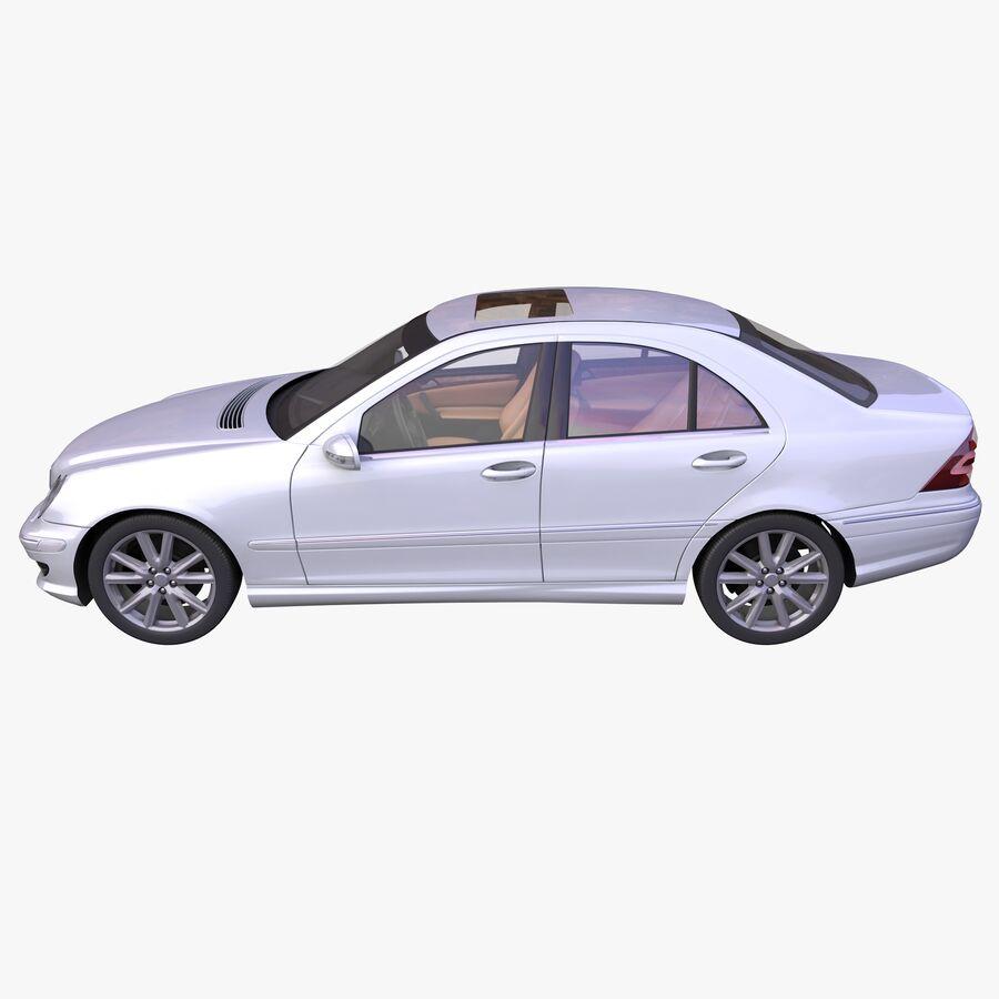 Generic German Sedan royalty-free 3d model - Preview no. 6