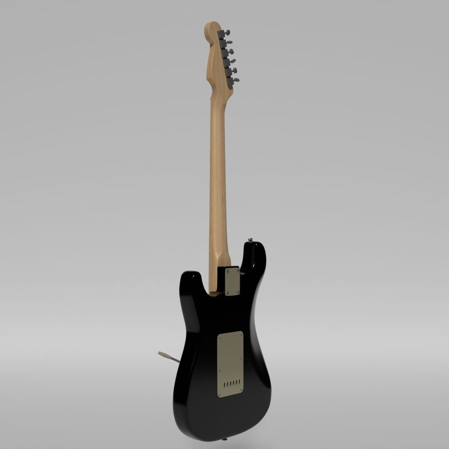 Guitare Fender Stratocaster royalty-free 3d model - Preview no. 42