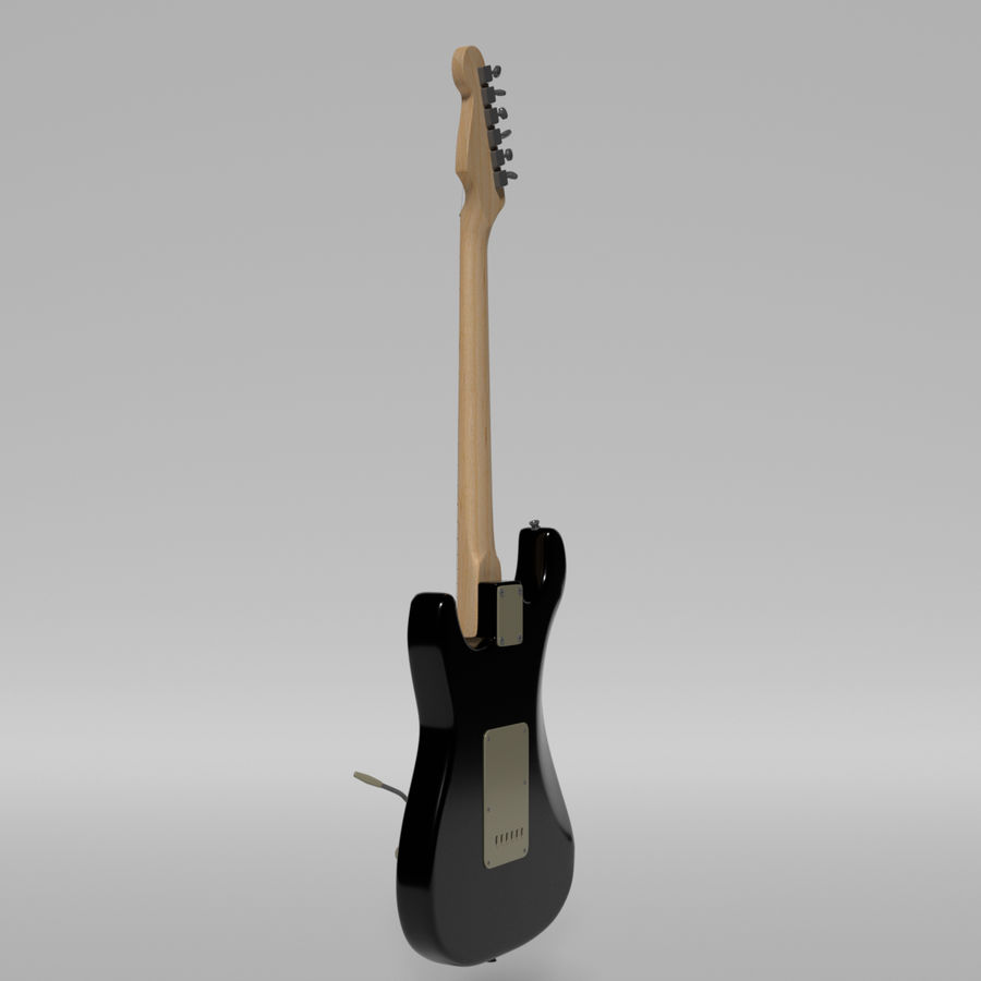 Guitare Fender Stratocaster royalty-free 3d model - Preview no. 43