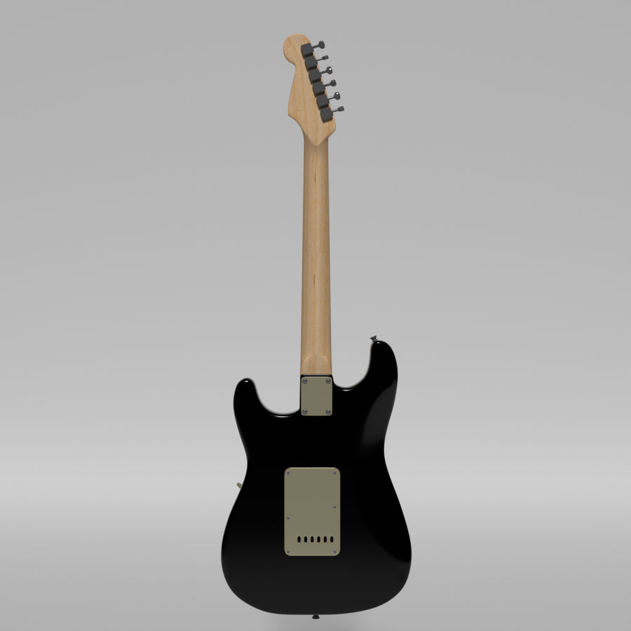 Guitare Fender Stratocaster royalty-free 3d model - Preview no. 37