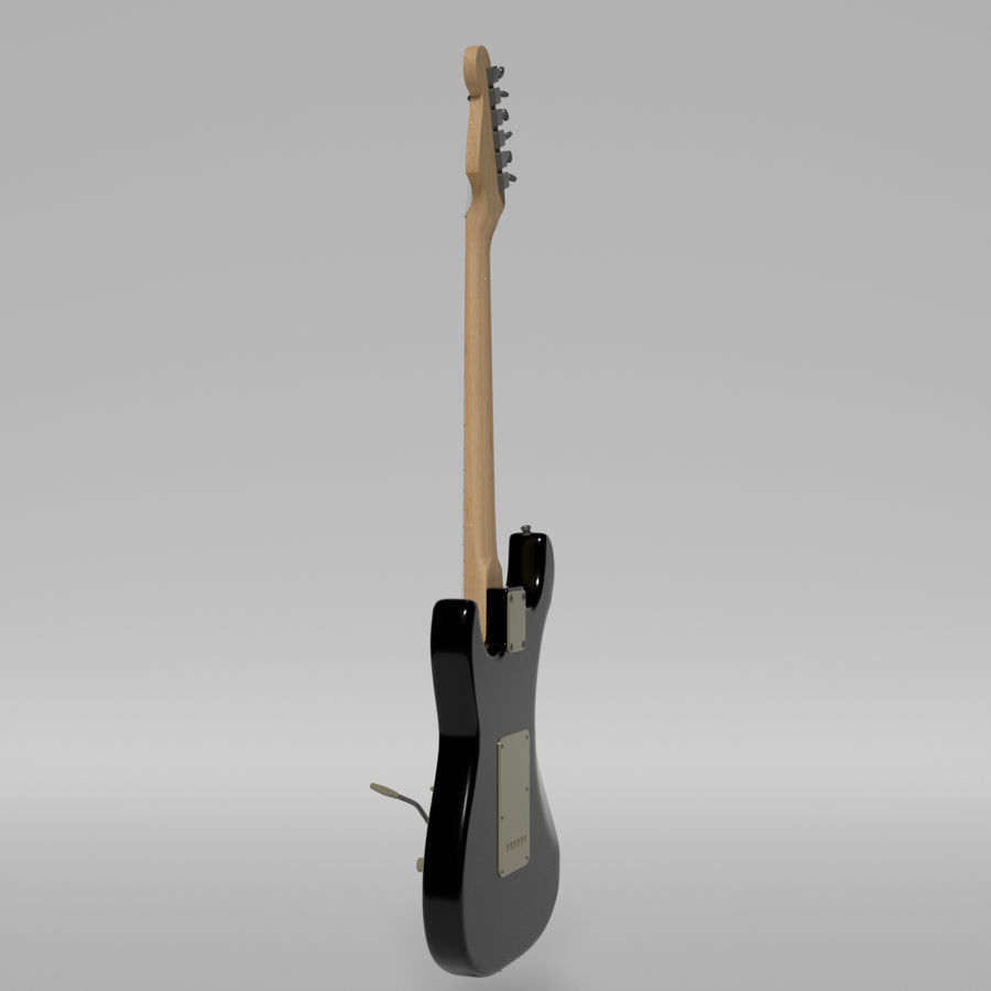 Guitare Fender Stratocaster royalty-free 3d model - Preview no. 44